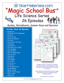 A Differentiated Worksheet Bundle- Quiz Ans for Magic School Bus ...