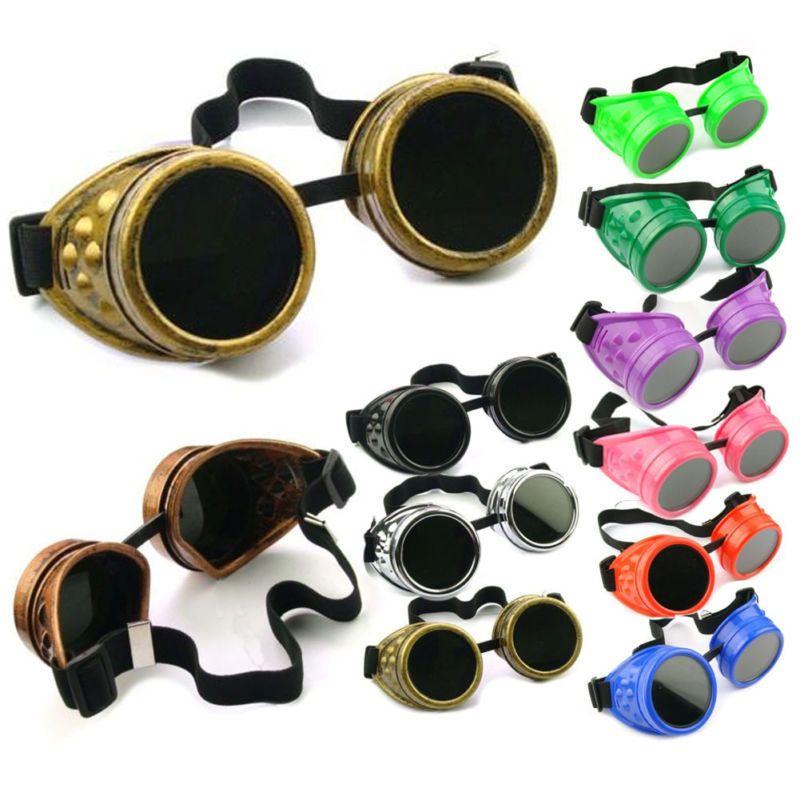 Vintage Victorian Steampunk Goggles Sunglass Welding Cyber Punk Goth Cosplay