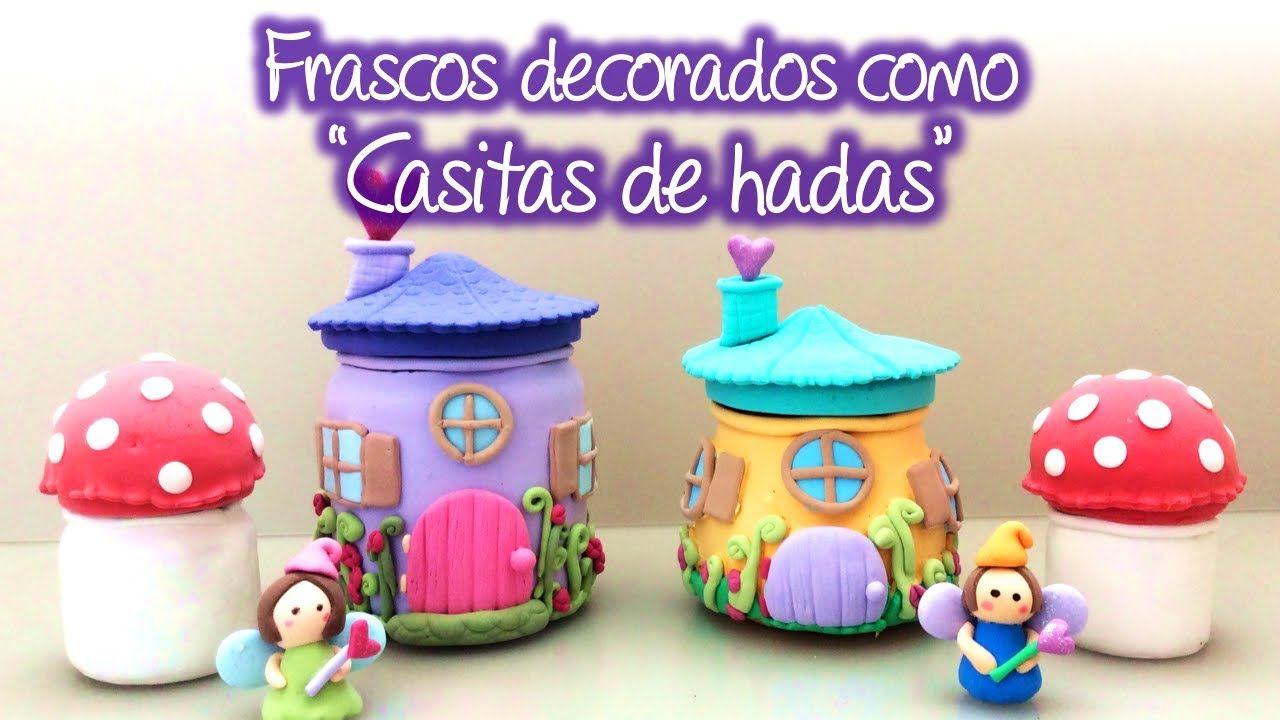 #Recicla tus #Frascos y #decoralos como #Casitas de #Hadas, #Jars #decorated as #FairyHouses...........  #pintaideas #manualidades #DIY #hazlotumismo #handmade #bricolaje #foami #reutilizar #ideas  #QuedateEnCasa #StayAtHome #foamimoldeable #foamy #gomaeva #frascosdevidrio #artsandcrafts #crafts #arts