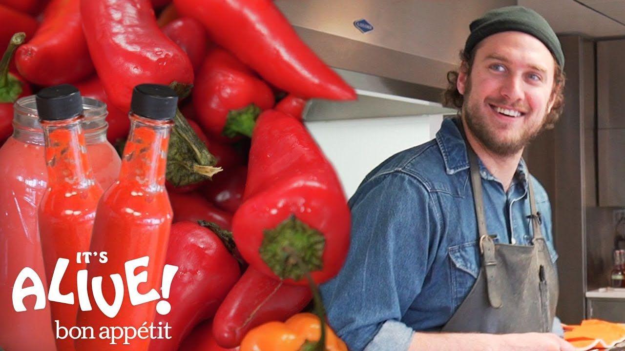 Brad Makes Fermented Hot Sauce It S Alive Bon Appetit Youtube Hot Sauce Recipes Homemade Hot Sauce Hot Sauce