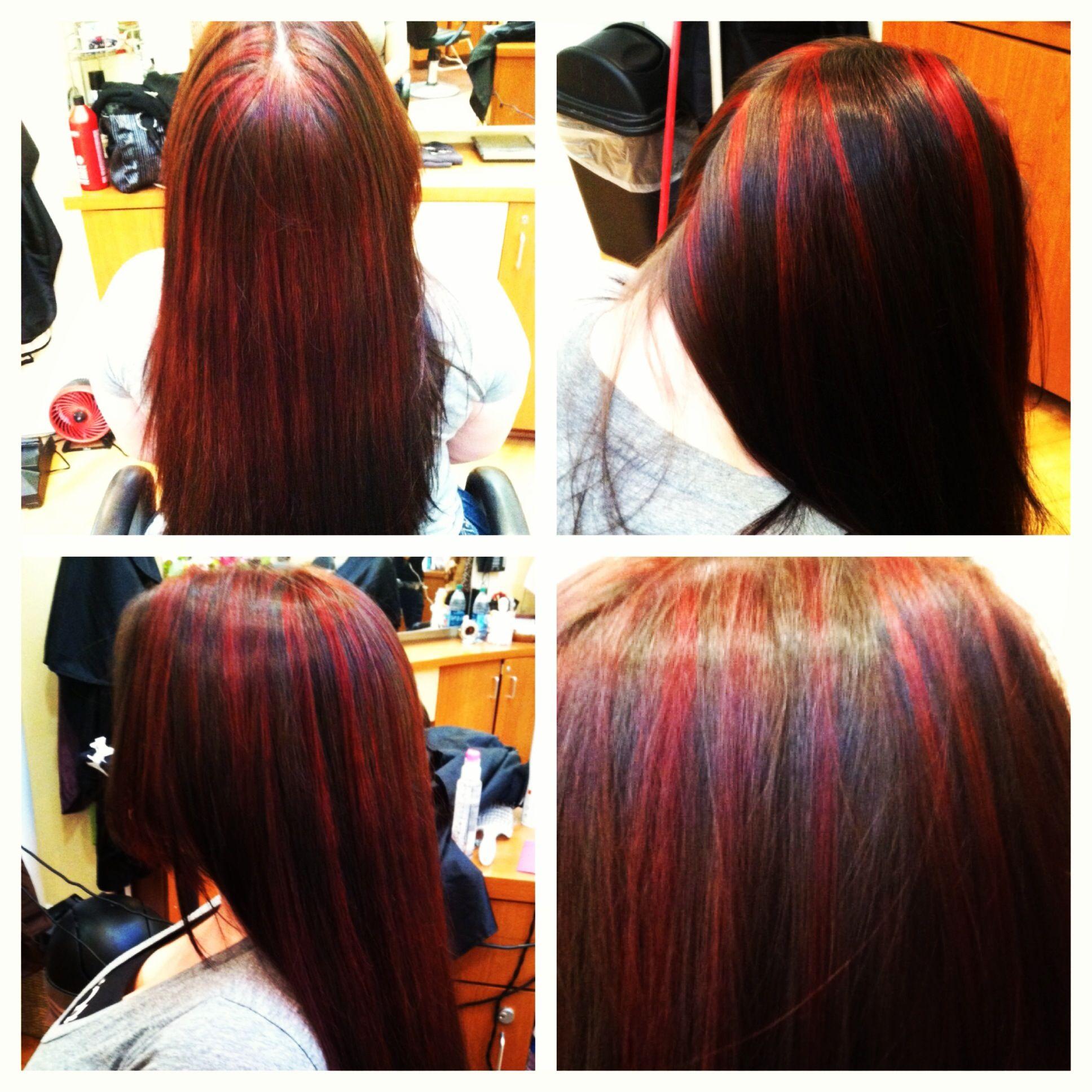 Pin By Tabatha Jonal On Tresses Hair Hair Makeup Red Highlights