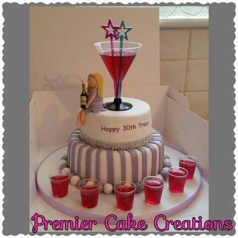 Cocktail Cake Cake Toppers Cocktail Cake Cake 21st