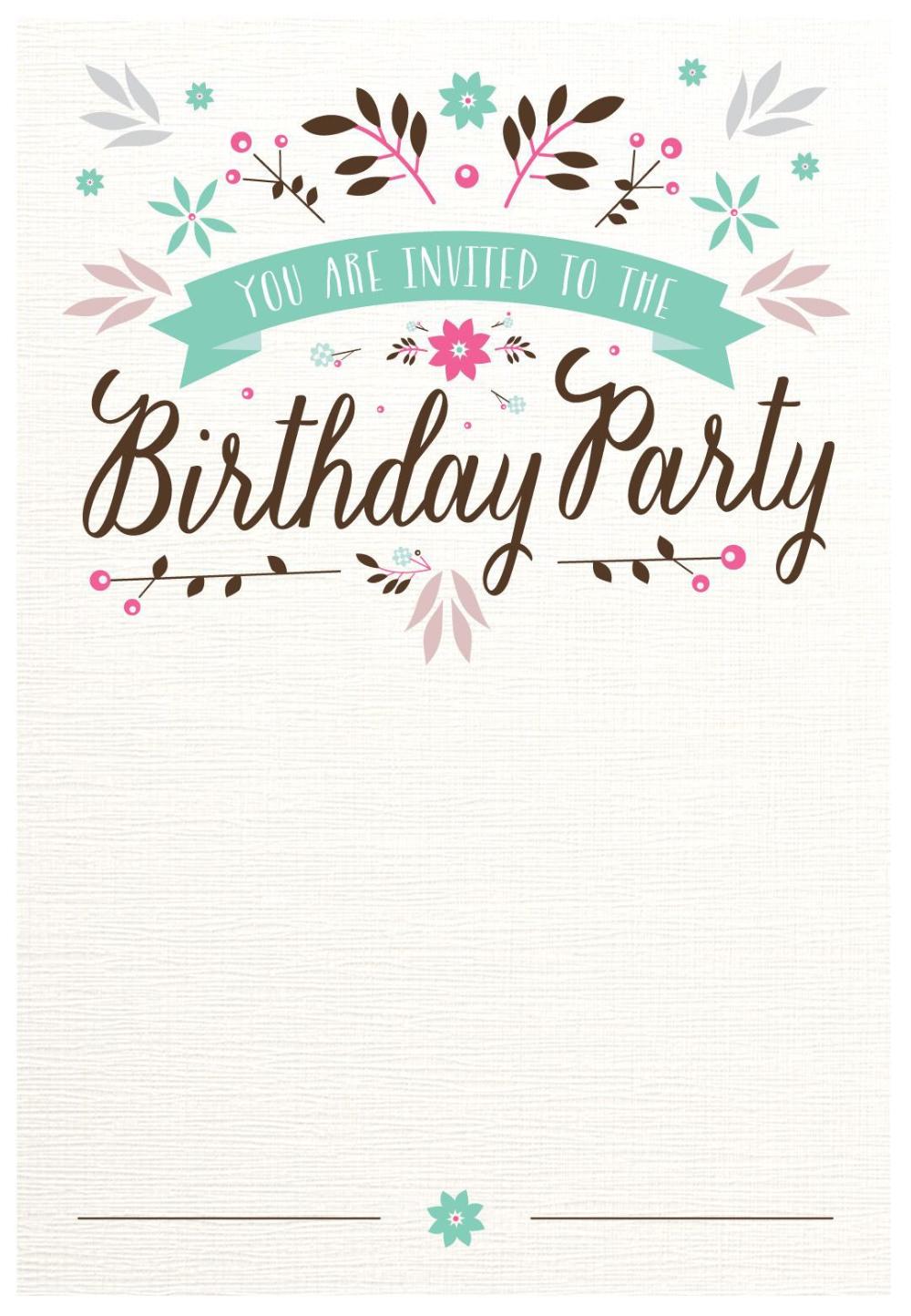 Vorlage Fur Geburtstagseinladung Sechzig