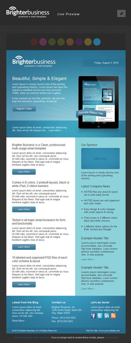 Brighter business html email template screenshot emails brighter business html email template screenshot wajeb Images