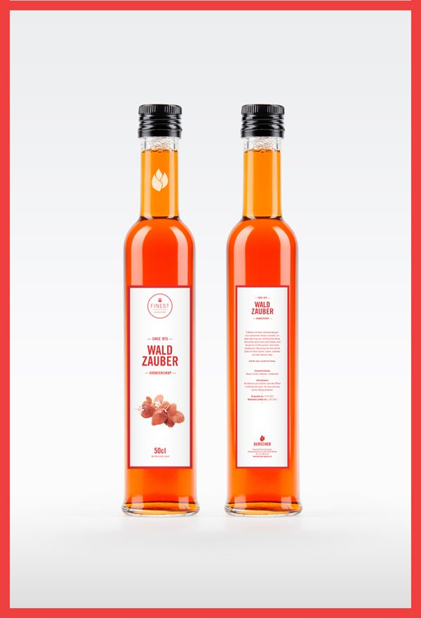 Brand and Design of the «Durscher Sirup» label.