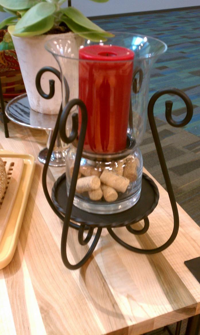 Porta vela para centro de mesa combinado con cristal - Porta velas navidenas ...