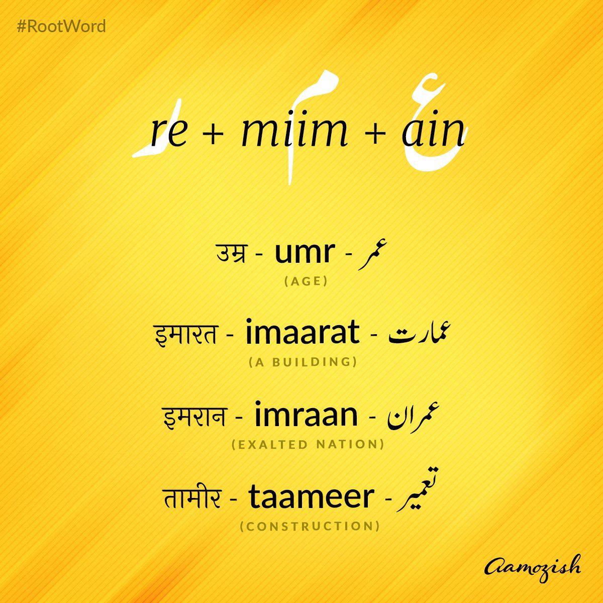 aamozish on Twitter in 2020 Hindi words, Urdu words