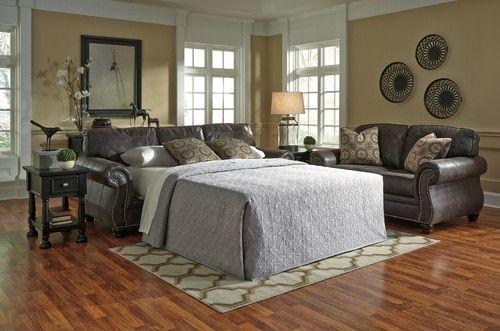 Best Breville Charcoal Queen Sofa Sleeper 8000439 Queen 640 x 480