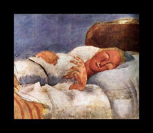 Roger de La Fresnaye.  man sleeping