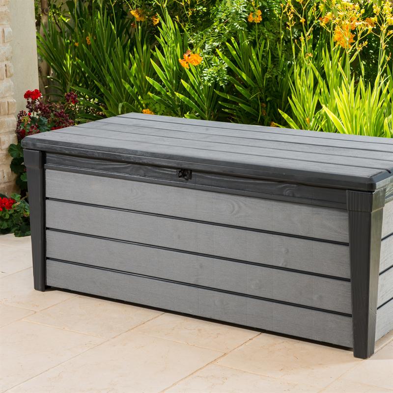 Keter 455L Brushwood Outdoor Storage Box Plastic garden