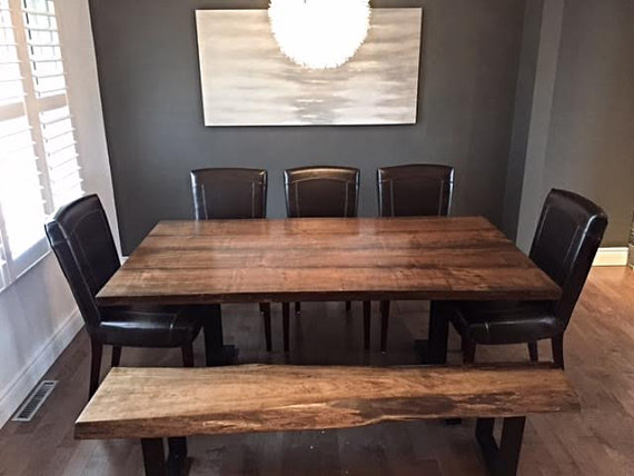 Live Edge Table With Matching Bench Desk Or Boardroom Tables Conference