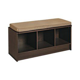 ClosetMaid 3-Cube Bench - Espresso (With images) | Storage ...