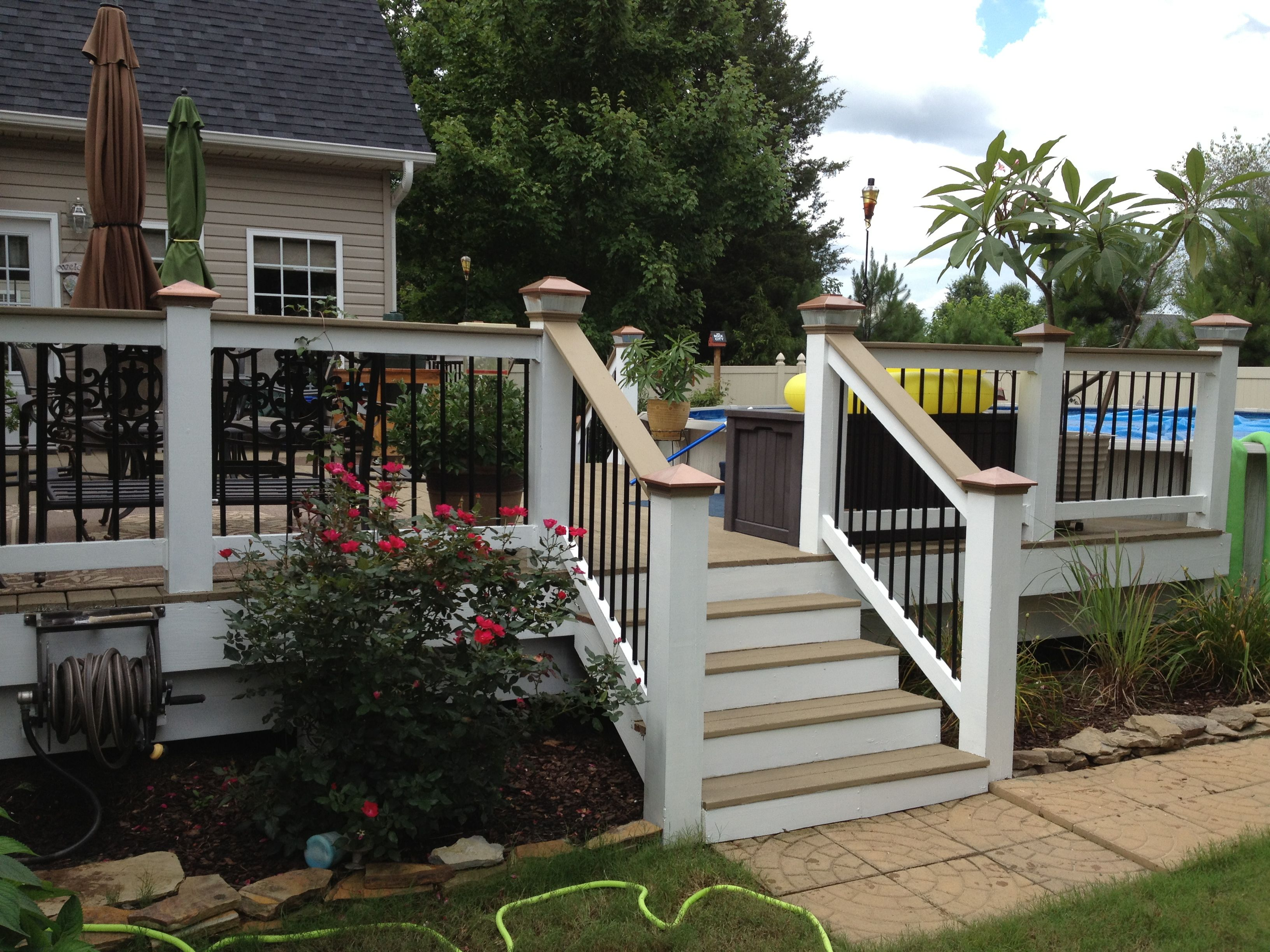 Our newly refinished deck done with restore paint from lowes our newly refinished deck done with restore paint from lowes color is river rock baanklon Images
