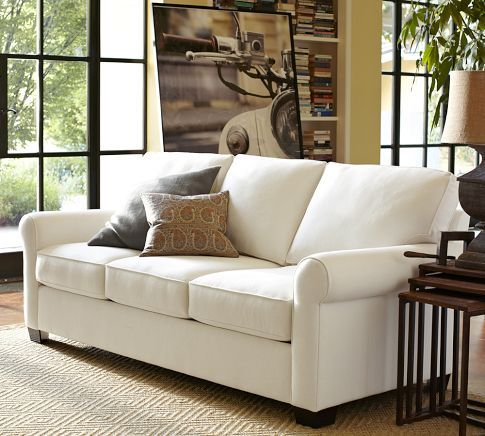 Buchanan Poly Sofa Sofa Poly Material Textured Basketweav Ivory
