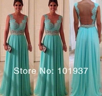 Turquoise Silk Modern Dress