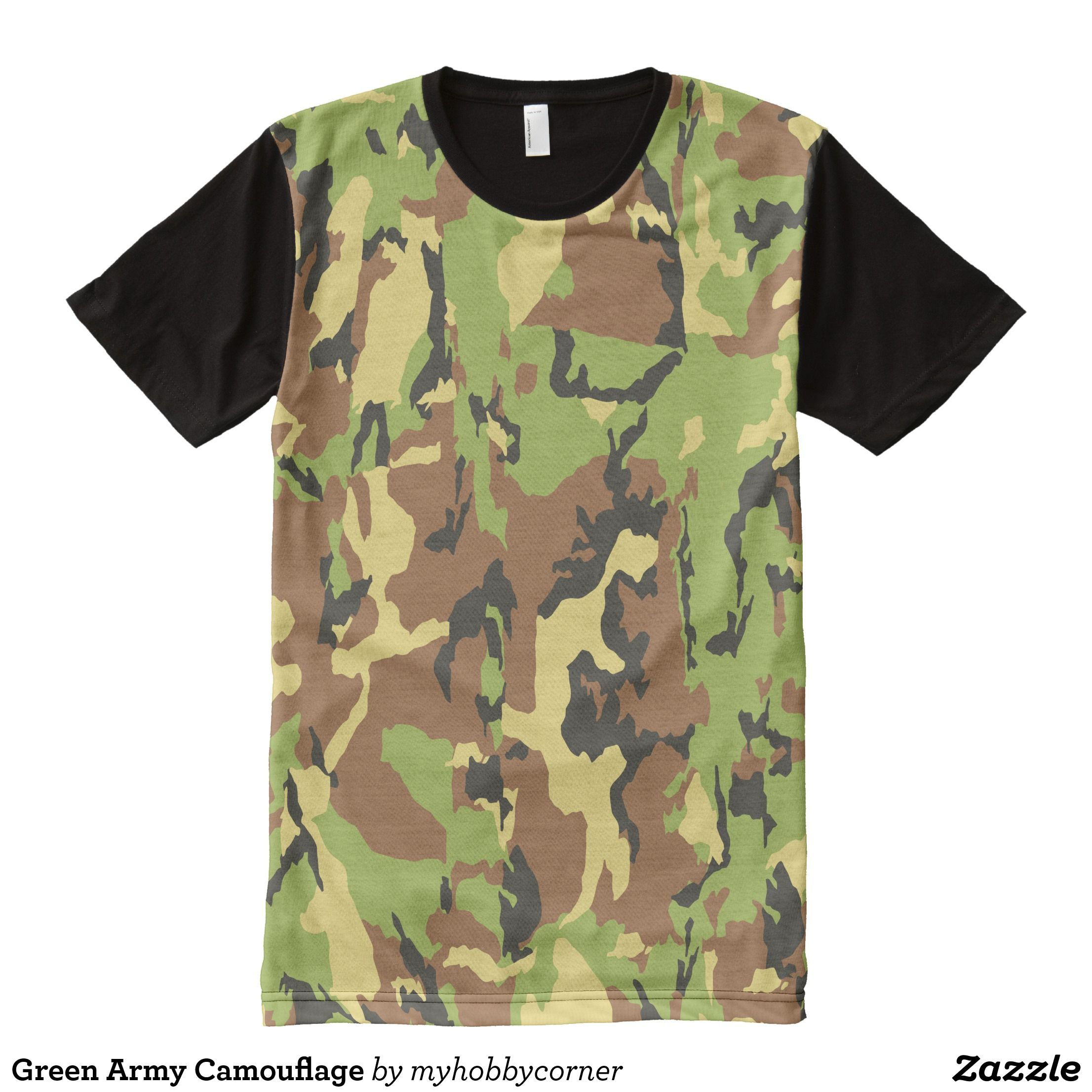 Green army camouflage alloverprint shirt in menus all over