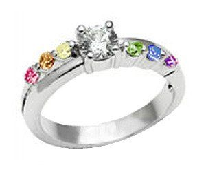 cbf5595272 Inexpensive Gay Pride Wedding Rings (Or Engagement Rings for Gay Couples)