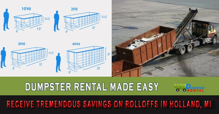 Dumpster Rental Holland Mi Receive 15 Off 10 15 20 30 Yd Dumpster Rental Dumpster Maplewood