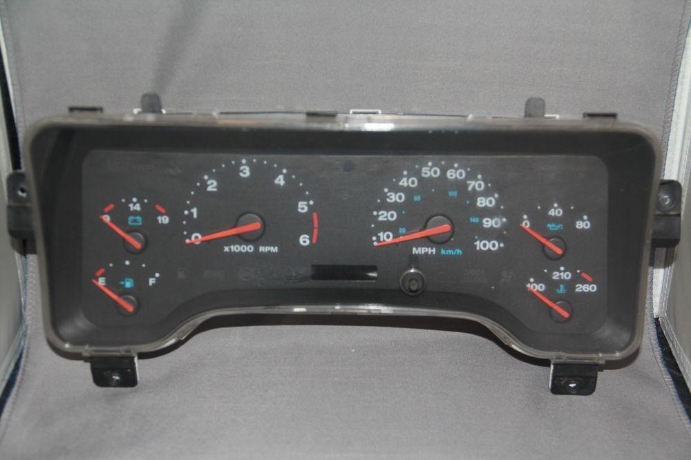 2002 Jeep Wrangler Speedometer Head Cluster Stock 7e3135 Jeep