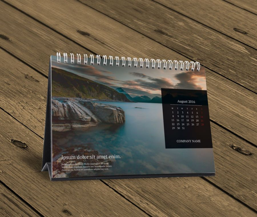 Desk Table Calendar 2016 Design Template Kb10 W13a