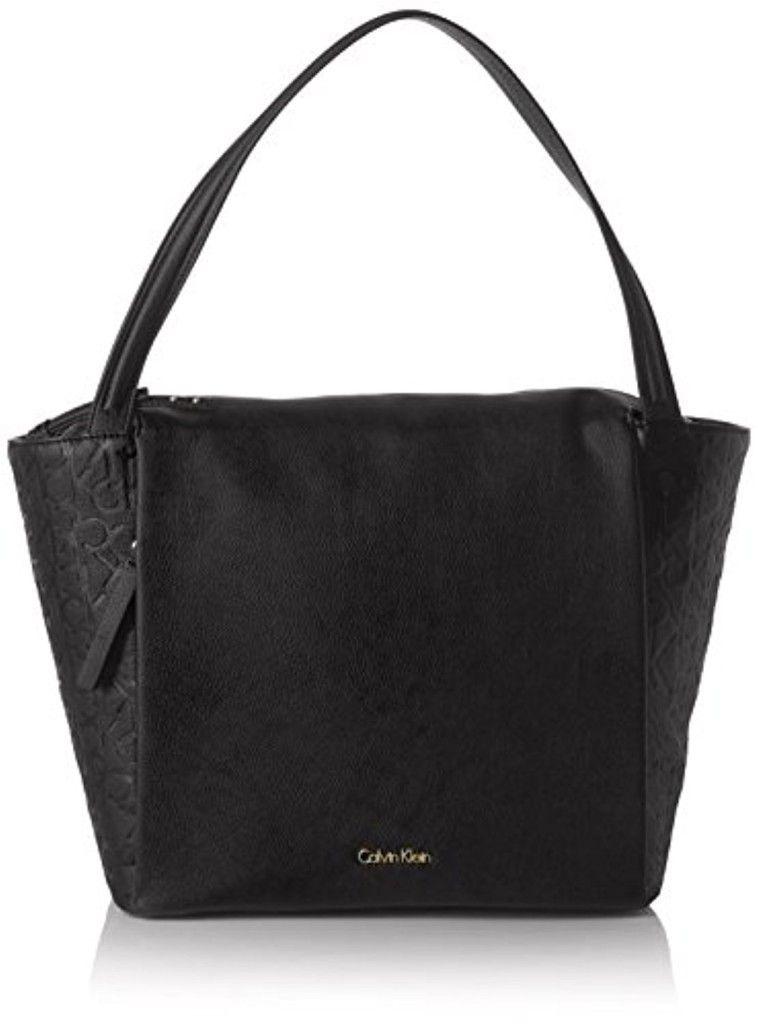 Calvin Klein Large Tote, Bolsa para Mujer, Negro (Black), cm (b x h x t)  -Loco de Ofertas - Loco de Ofertas