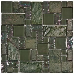 Merola Tile Garden Versailles Ivy 11 3 4 In X 11 3 4 In X 8 Mm Ceramic And Glass Mosaic Tile Gdxgvsiv Stone Mosaic Tile Glass Mosaic Tiles Mosaic Wall Tiles