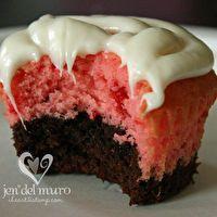 Strawberry Brownie Cupcakes