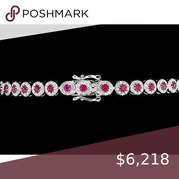 Diamond Tennis Bracelet 12 Carats Prong Set Pink S Metal Specifications White Gold 14k Stone Specifica In 2020 Tennis Bracelet Diamond Colored Diamonds Sapphire Stone