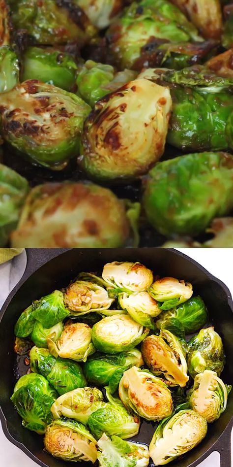 Honey Balsamic Brussel Sprouts (Sauteed!) - Rasa M