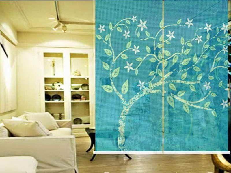 diy hanging room divider. Black Bedroom Furniture Sets. Home Design Ideas