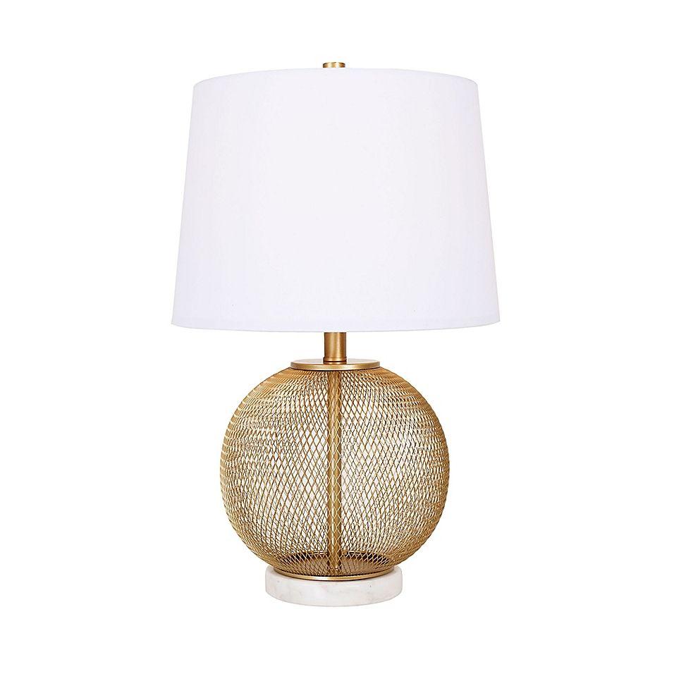 Cupcakes Cashmere Gold Metal Mesh Table Lamp Lamp Metal Mesh