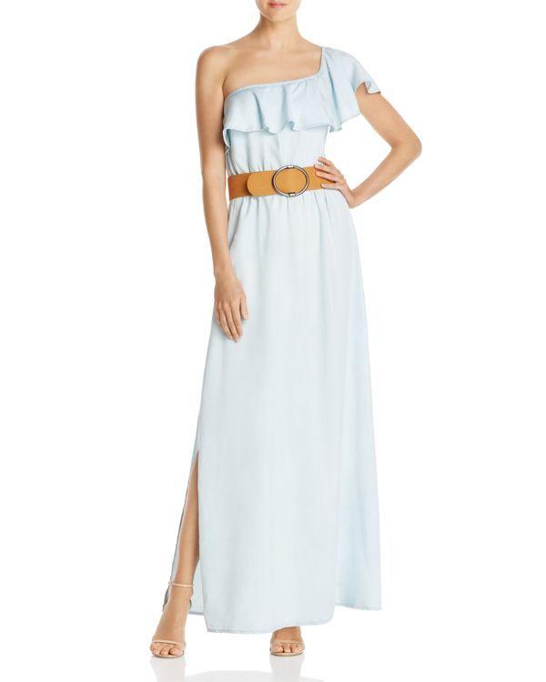 Guess Belle One-Shoulder Maxi Dress