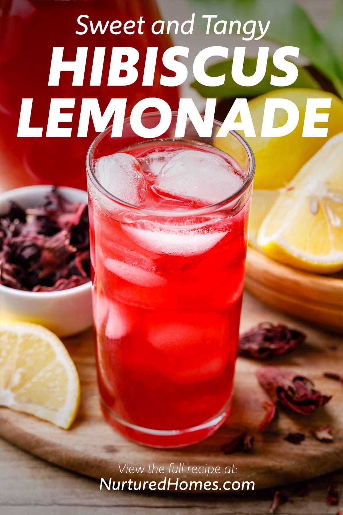 Sweet And Tangy Hibiscus Lemonade Easy Recipe Nurtured Homes Recipe In 2020 Hibiscus Juice Recipe Hibiscus Drink Recipe Healthy Refreshing Drinks