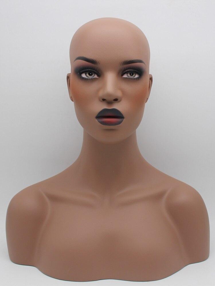 65 0us Dark Skin Fiberglass Female Mannequin Head Bust For Wigs Mannequins Aliexpress Mannequin Heads Wigs Wig Making