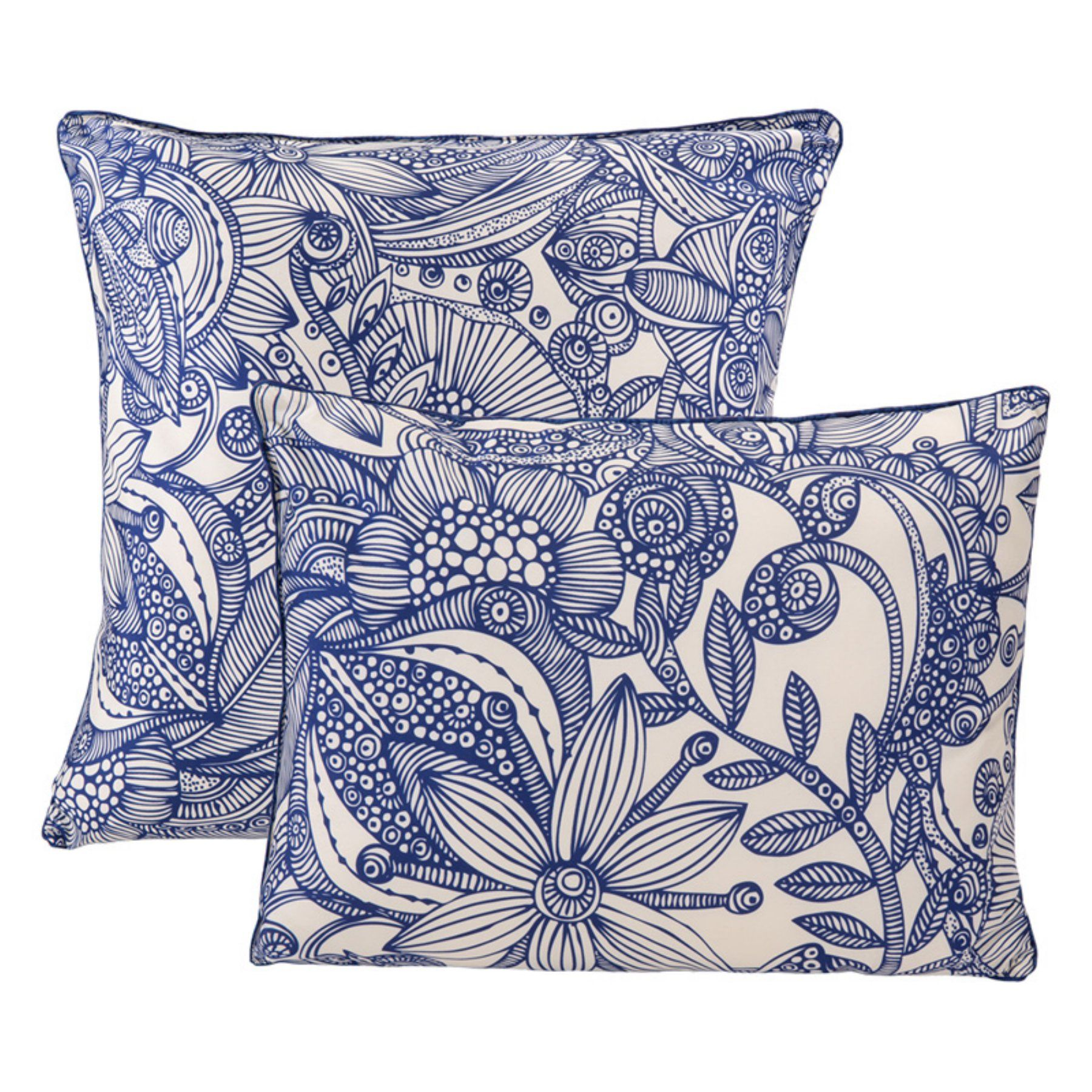 Valentina piece flowers and doodles decorative pillow set by epoch