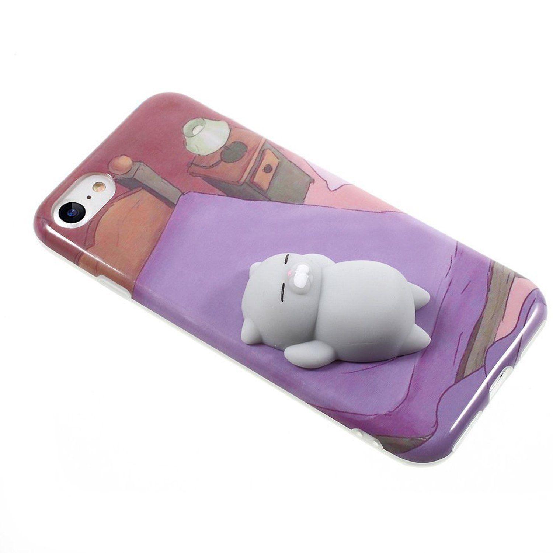 buy popular c8173 a2b76 Amazon.com: Squishy Cat Phone Case for iPhone 6s Plus Kawaii Cute ...