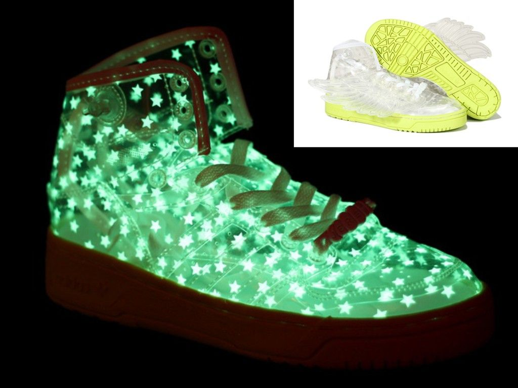 3aed32ebc6c5 Adidas Jeremy Scott Wings Star Glow In The Dark Shoes