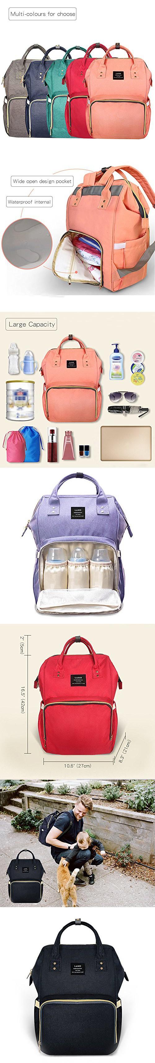 e968c75f148b Wide Open Designed Baby Diaper Bag, Ticent Multi-Function Travel ...
