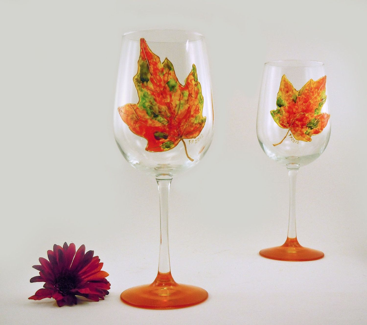 thanksgiving fall wine glass wine glasses bottles