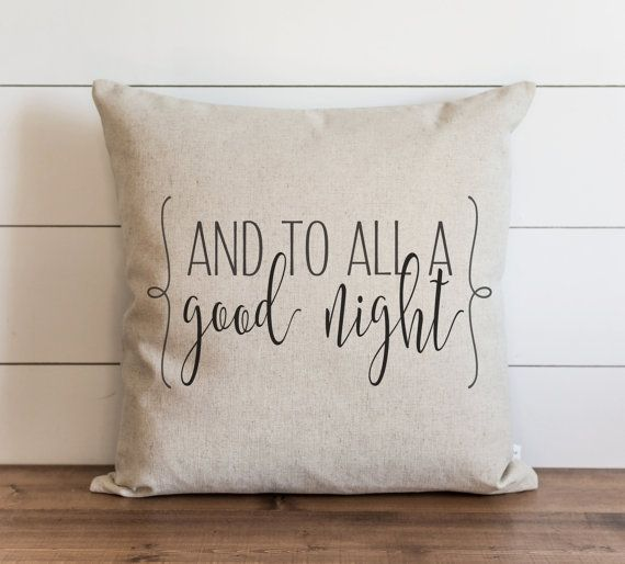 fb1f5bae28a And To All A Good Night 20 x 20 Pillow Cover    Christmas    Holiday    Throw  Pillow    Gift    Acc