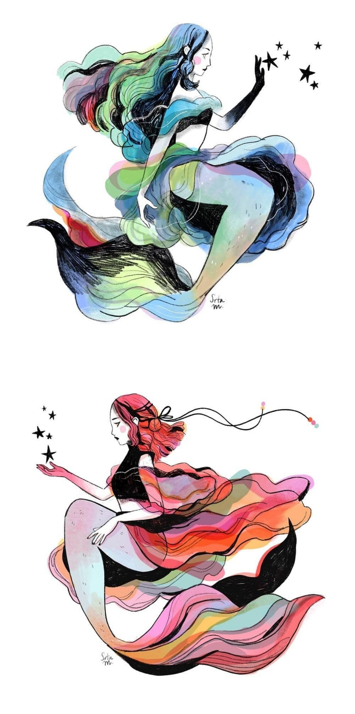 Manuela López on Instagram #art #illustration #mermaid #digitalart