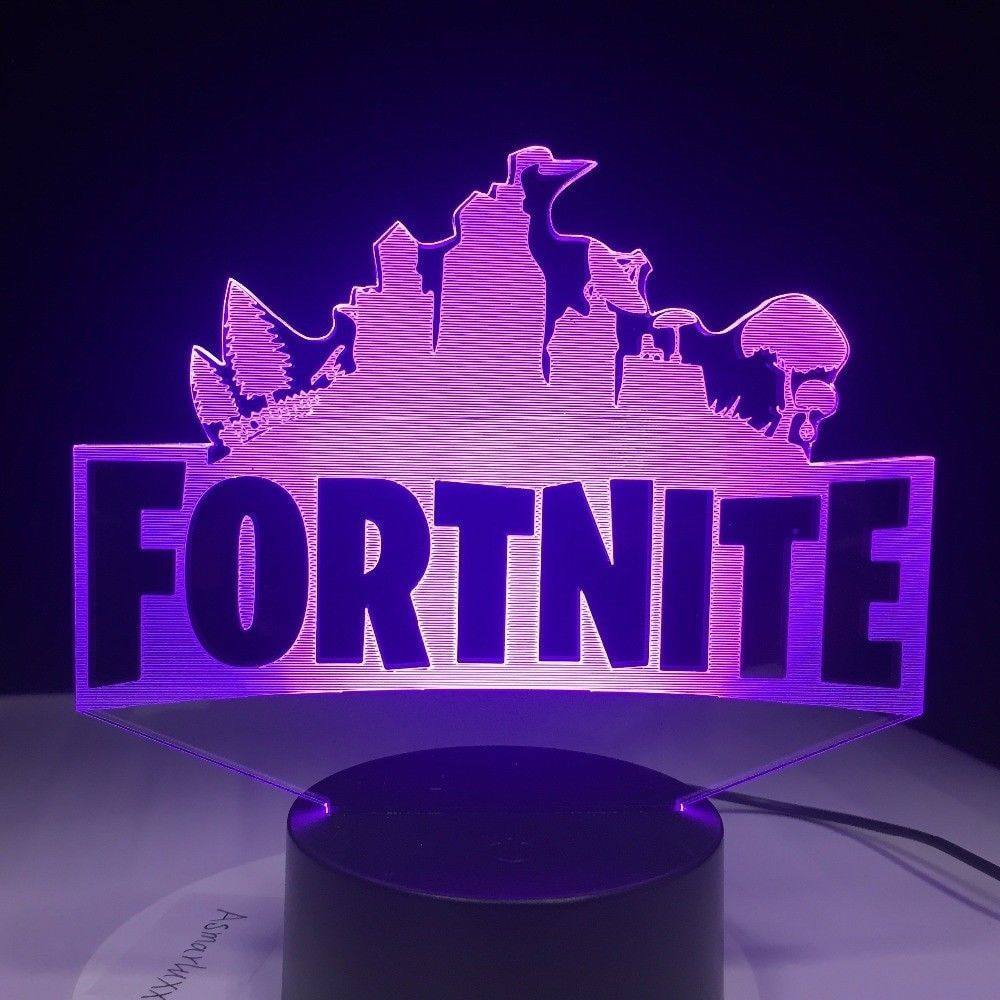 Fortnite Merch 3d Lamp Kids Night Light Bedroom Decor Fort Nite Accessory New Mood Lamps Night Light Kids Night Light Lamp