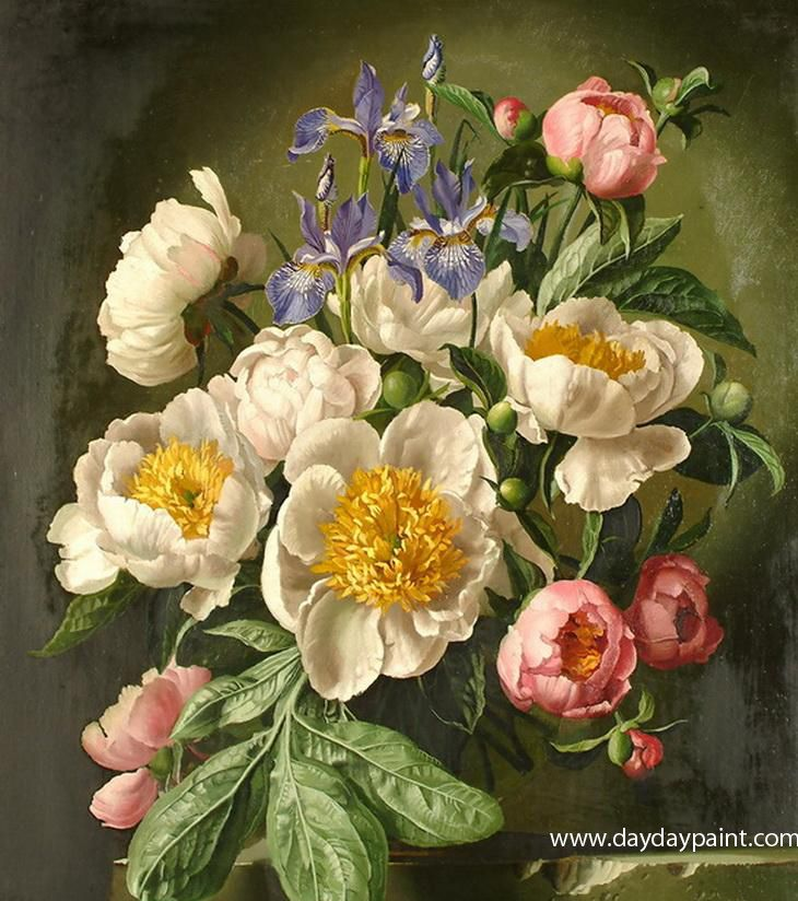 Famous Paintings Of Flowers Flower Oil Painting Artists