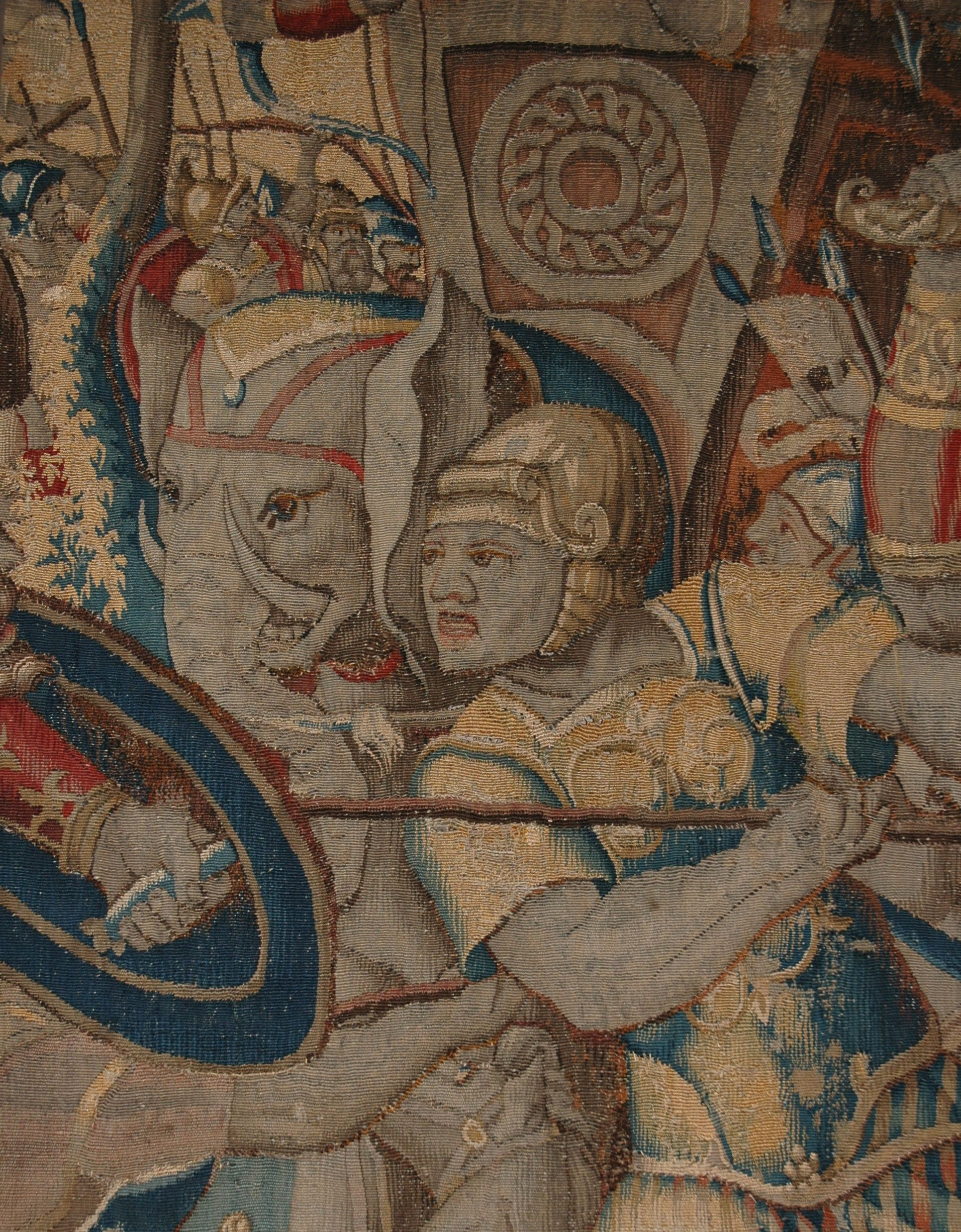 """Here's a close up of the Scipio and Hannibal tapestry. Scipio won this battle and as is considered one of the great generals of history. Find out more about Scipio, Hannibal and the war elephants in """"Classical Art"""", Beyond the Tour, May 25, 2016. (Presented by Elizabeth Spoden, Coordinator of Visitor Services and Education)"""