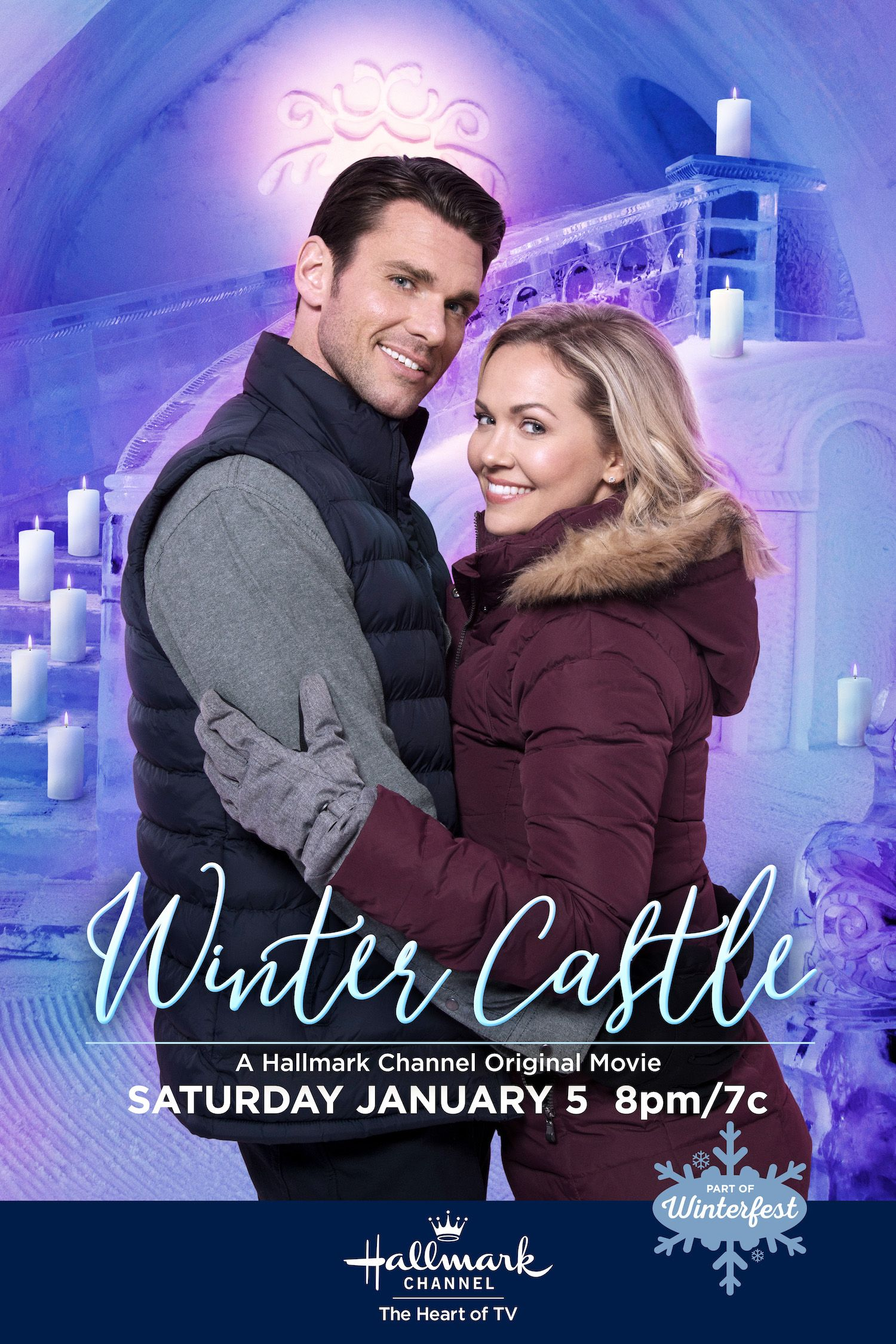 Only Hallmark Channel The Heart Of Winter Brings You A Romance And Destination Wedding Inside A Real Wi Christmas Movies On Tv Hallmark Movies Winter Movies
