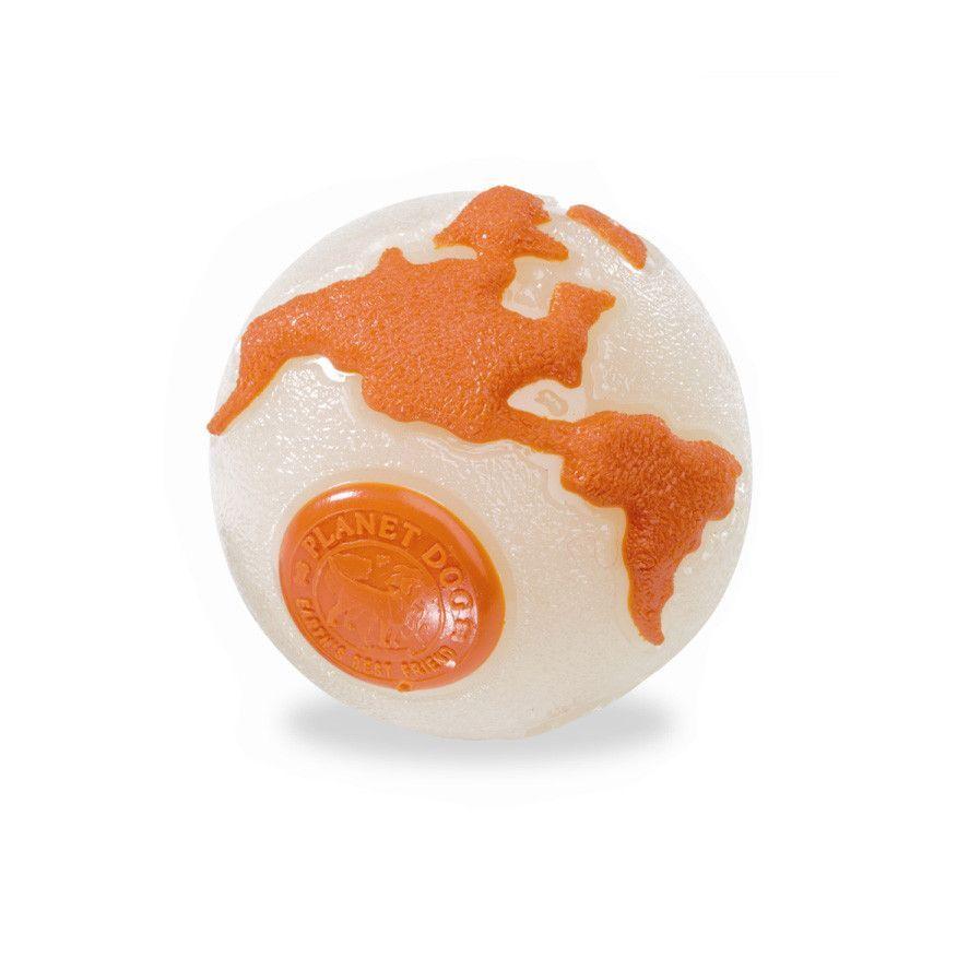 Planet Dog Orbee Tuff Orbee Ball Glow Orange Dog Toys Tough