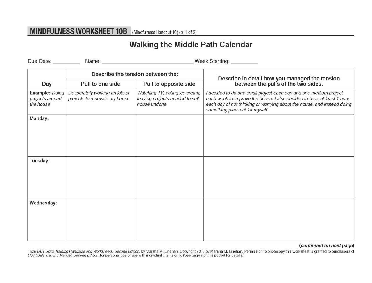 Healing Schemas Dbt Self Help Resources Walking The Middle Path Dbt Self Help Therapy Worksheets Self Help