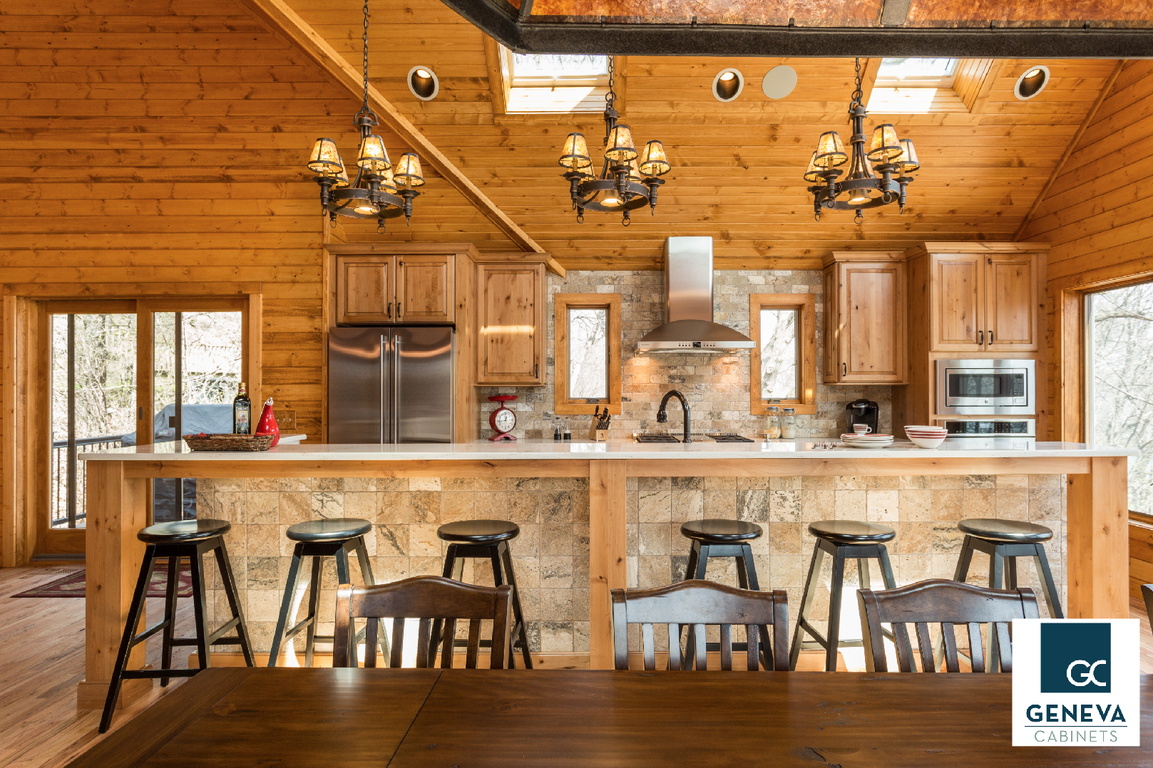 Best A Rustic Modern Kitchen By Geneva Cabinet Company Using 400 x 300