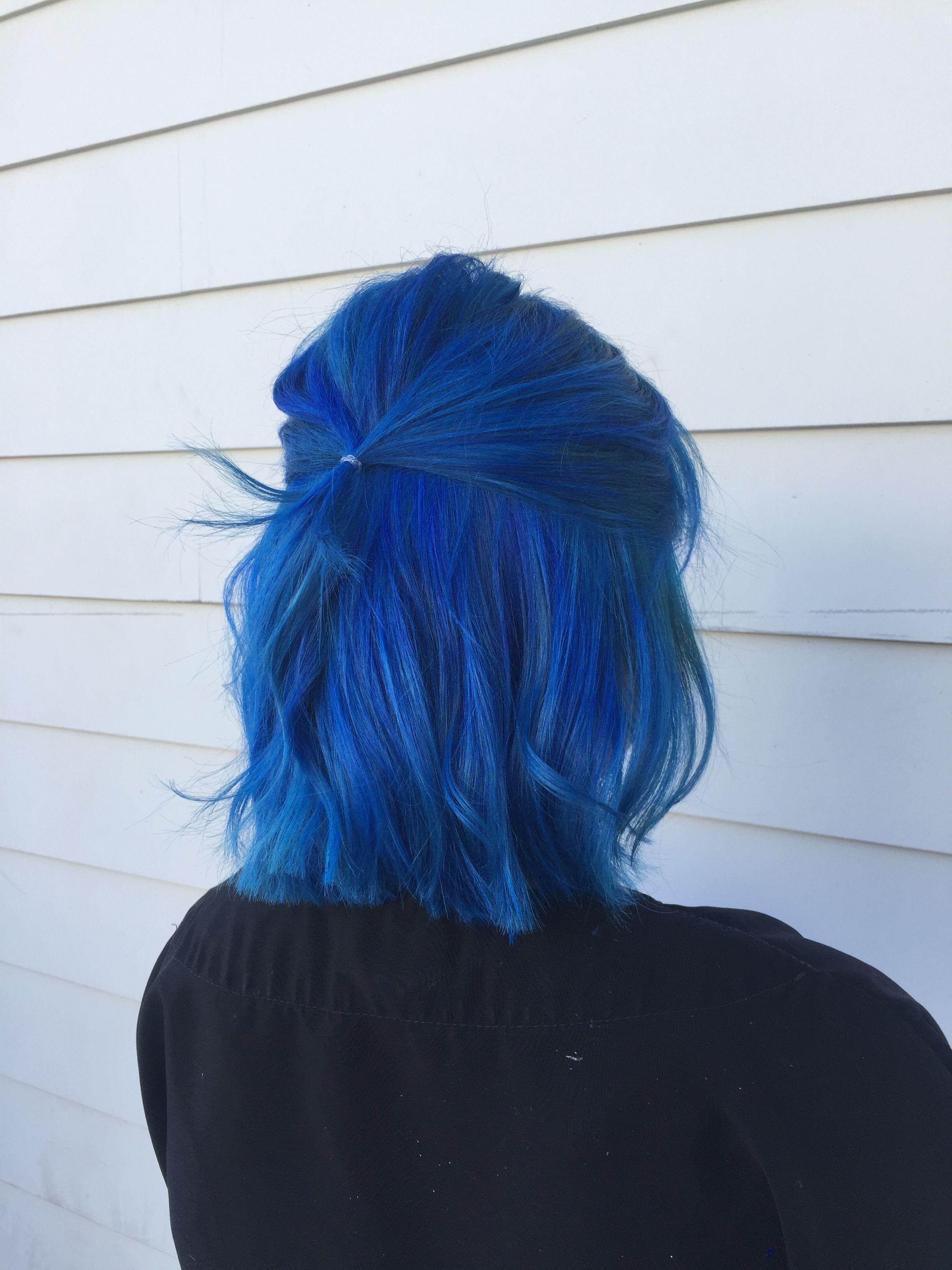 Misty Blue Hair Color Crazy Hair Styles Short Hair Color