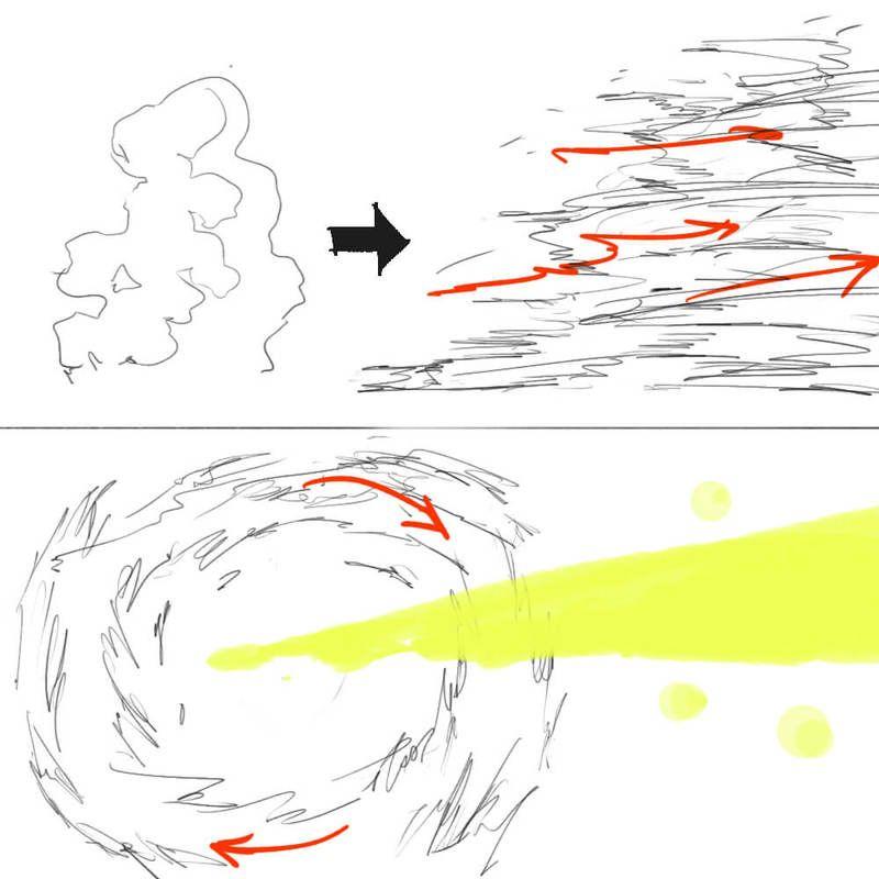 基礎から学ぶ煙エフェクトの描き方 Texture 描き方 イラスト